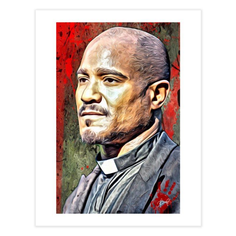 Father Gabriel Stokes - The Walking Dead Home Fine Art Print by EvoComicsInc's Artist Shop