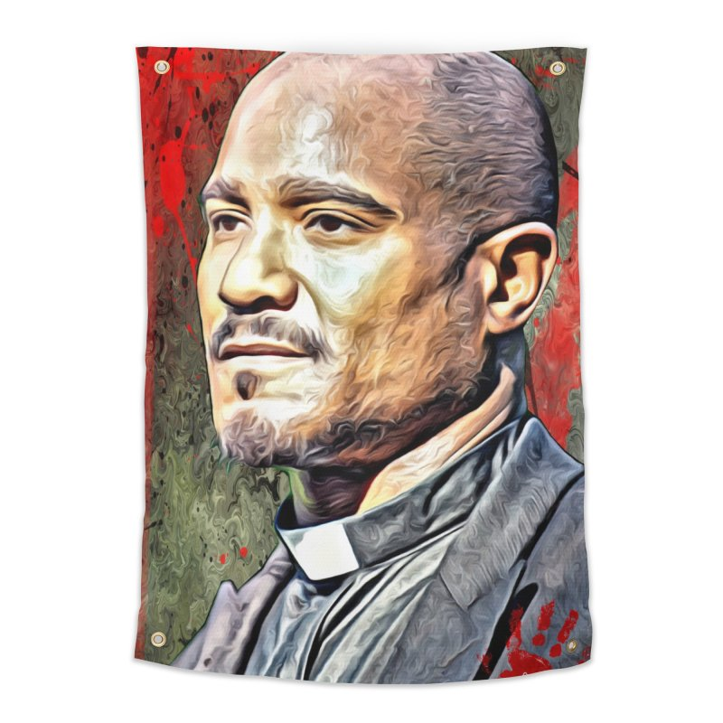 Father Gabriel Stokes - The Walking Dead Home Tapestry by EvoComicsInc's Artist Shop
