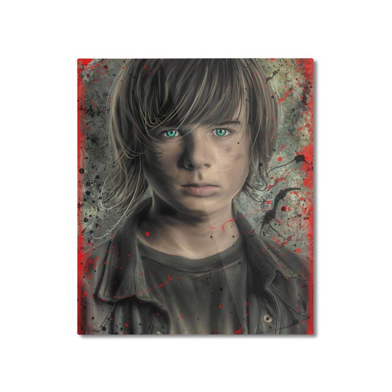 Carl Grimes - The Walking Dead Home Mounted Aluminum Print by EvoComicsInc's Artist Shop