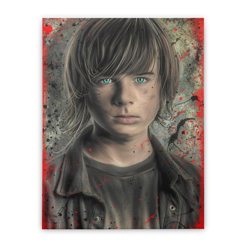 Carl Grimes - The Walking Dead Home Stretched Canvas by EvoComicsInc's Artist Shop