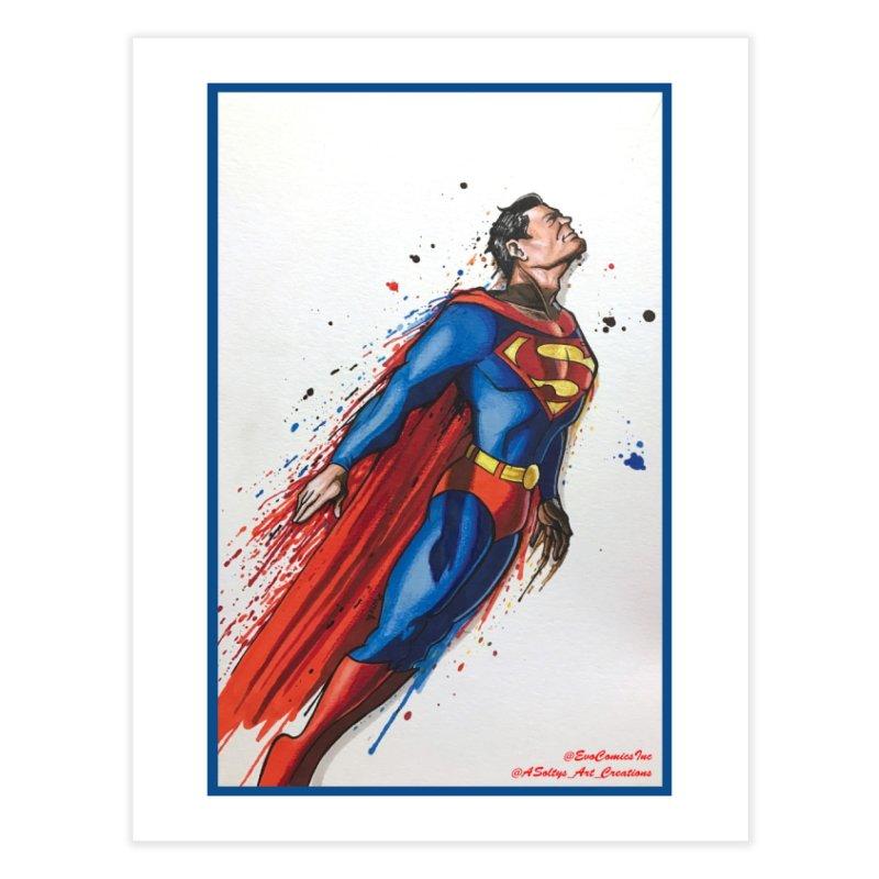 Superman Home Fine Art Print by EvoComicsInc's Artist Shop