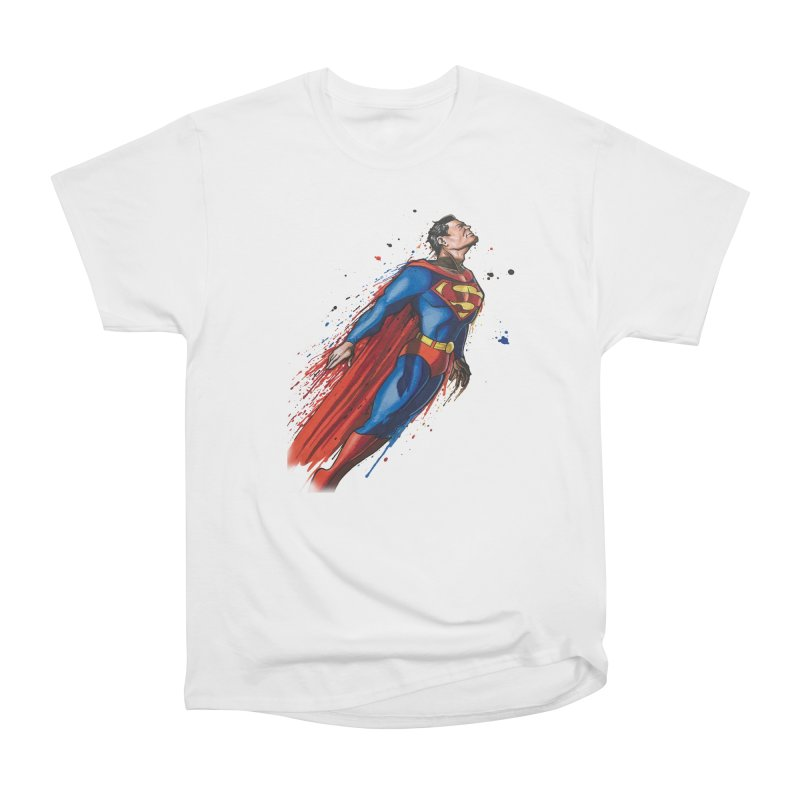 Superman Women's Heavyweight Unisex T-Shirt by EvoComicsInc's Artist Shop