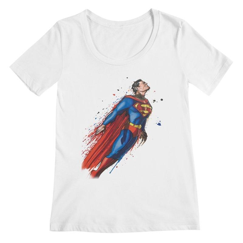 Superman Women's Regular Scoop Neck by Evolution Comics INC