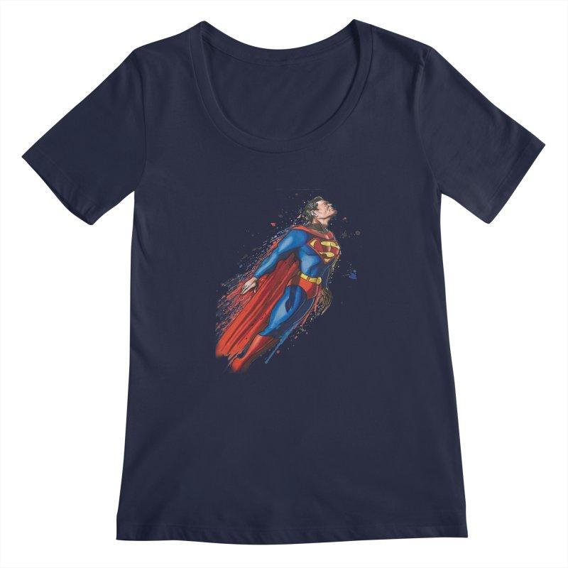 Superman Women's Regular Scoop Neck by EvoComicsInc's Artist Shop