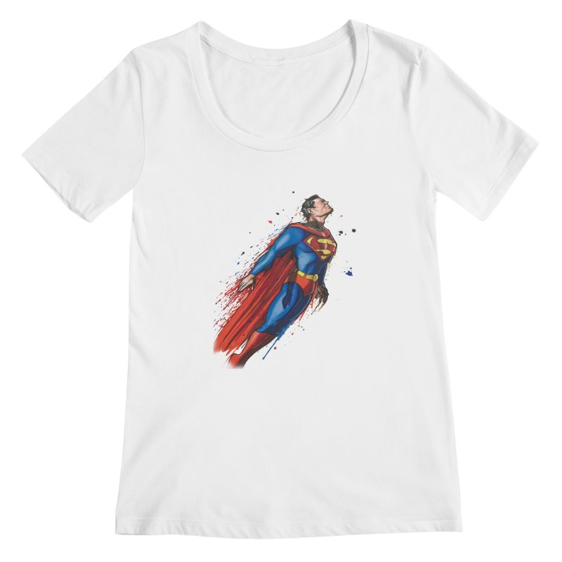 Superman Women's Scoopneck by EvoComicsInc's Artist Shop