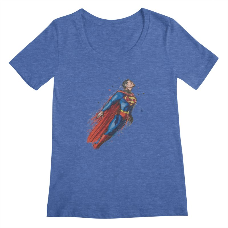 Superman Women's Regular Scoop Neck by Evolution Comics INC