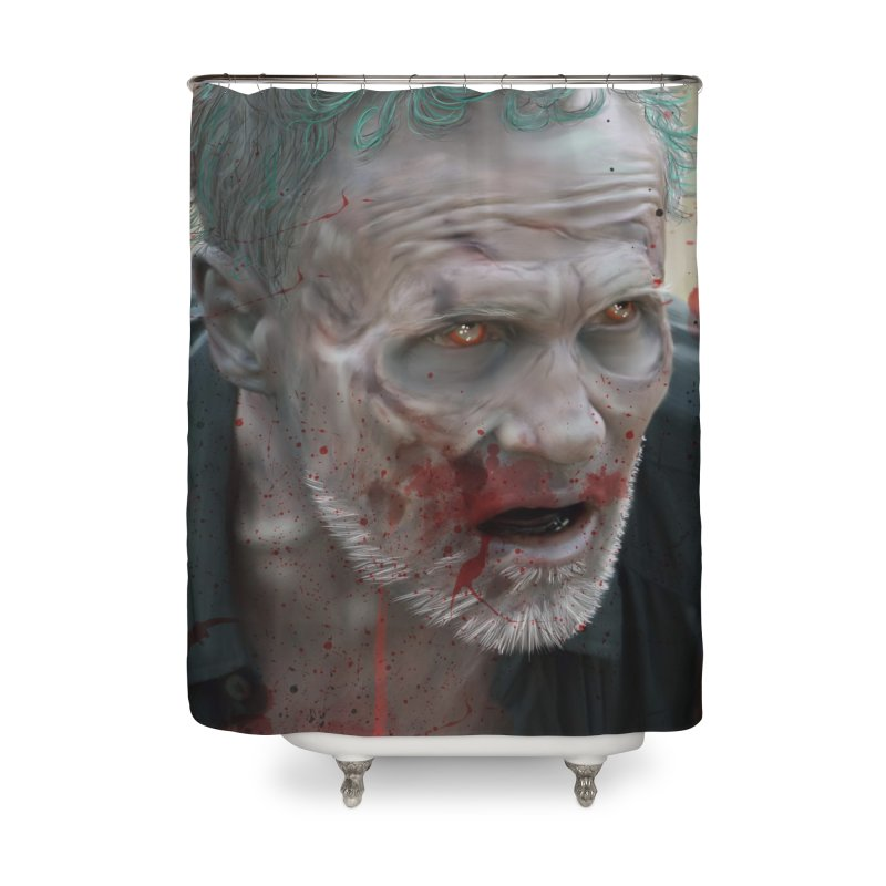 Walker Mural Dixon - The Walking Dead Home Shower Curtain by EvoComicsInc's Artist Shop