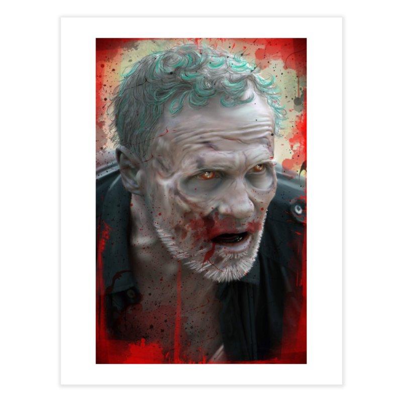 Walker Mural Dixon - The Walking Dead Home Fine Art Print by EvoComicsInc's Artist Shop
