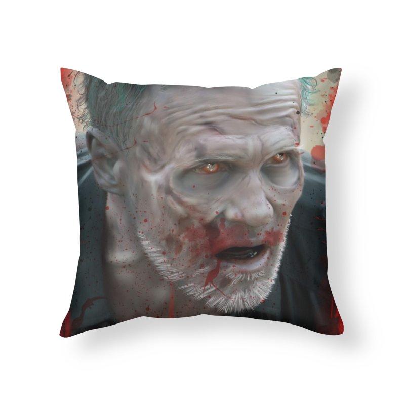 Walker Mural Dixon - The Walking Dead Home Throw Pillow by EvoComicsInc's Artist Shop