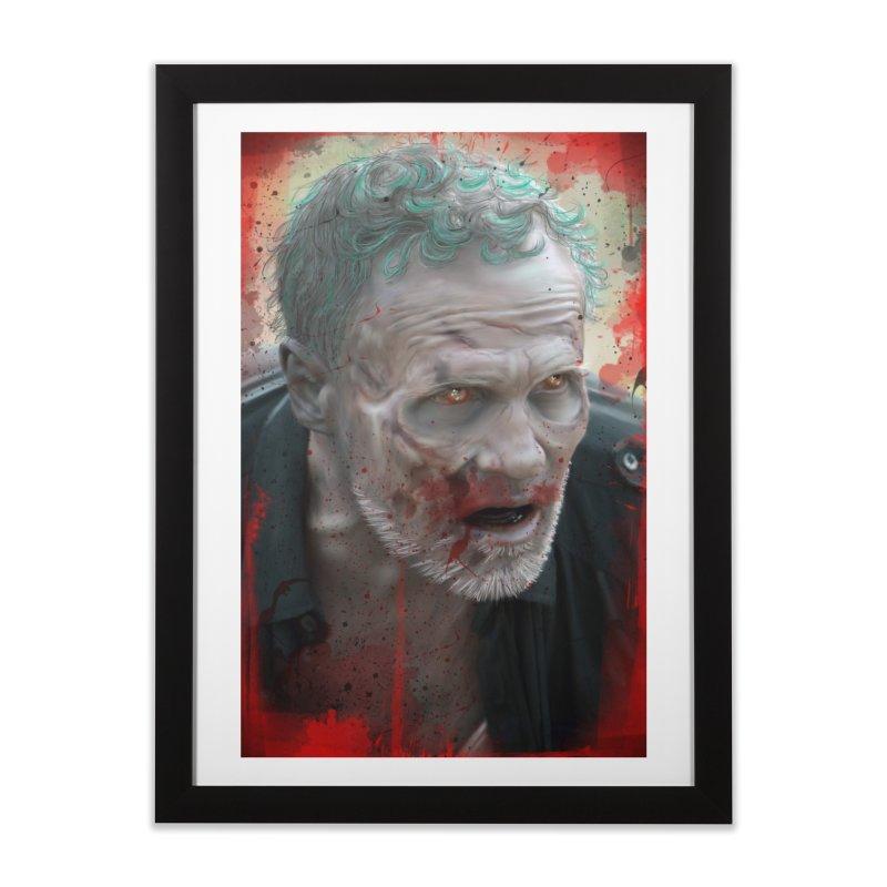 Walker Mural Dixon - The Walking Dead Home Framed Fine Art Print by EvoComicsInc's Artist Shop