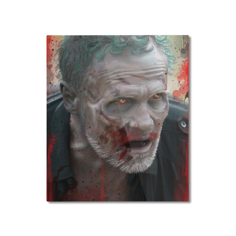 Walker Mural Dixon - The Walking Dead Home Mounted Aluminum Print by EvoComicsInc's Artist Shop