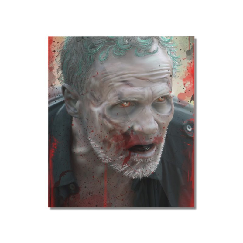 Walker Mural Dixon - The Walking Dead Home Mounted Acrylic Print by EvoComicsInc's Artist Shop