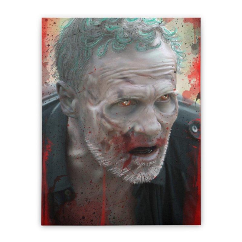 Walker Mural Dixon - The Walking Dead Home Stretched Canvas by EvoComicsInc's Artist Shop