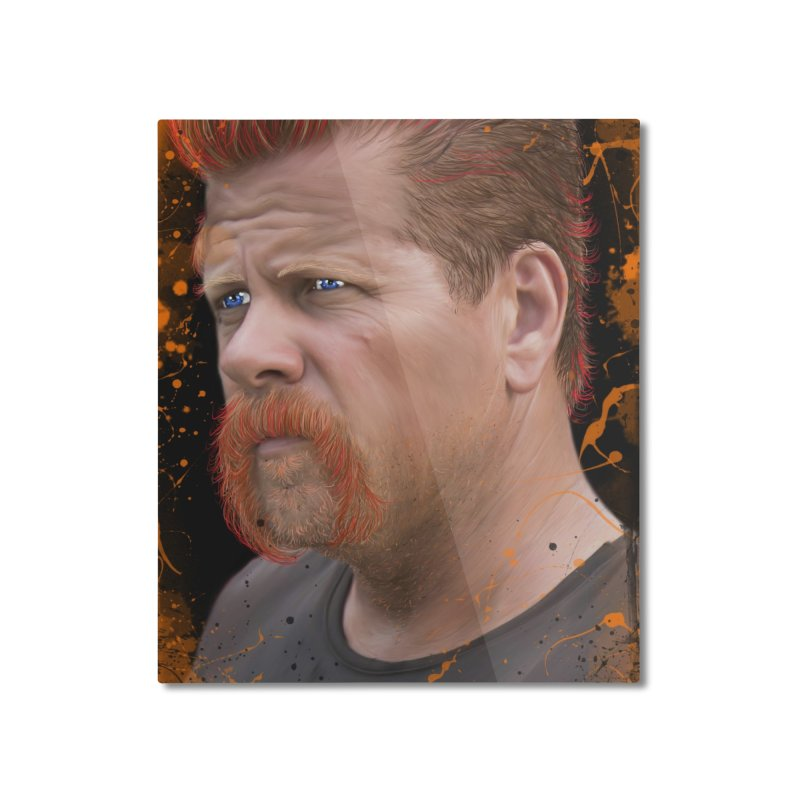 Abraham Ford - The Walking Dead Home Mounted Aluminum Print by EvoComicsInc's Artist Shop