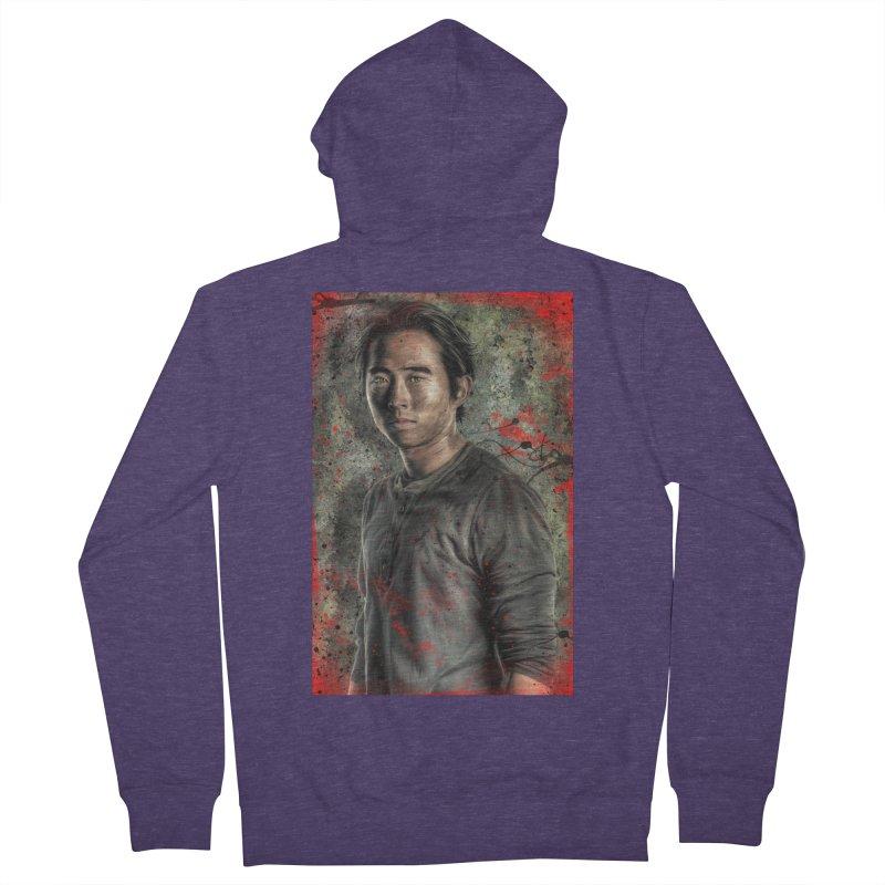 Glenn Rhee - The Walking Dead Men's Zip-Up Hoody by EvoComicsInc's Artist Shop