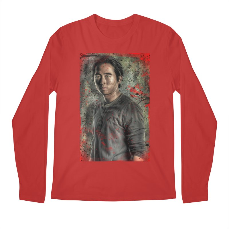 Glenn Rhee - The Walking Dead Men's Longsleeve T-Shirt by EvoComicsInc's Artist Shop