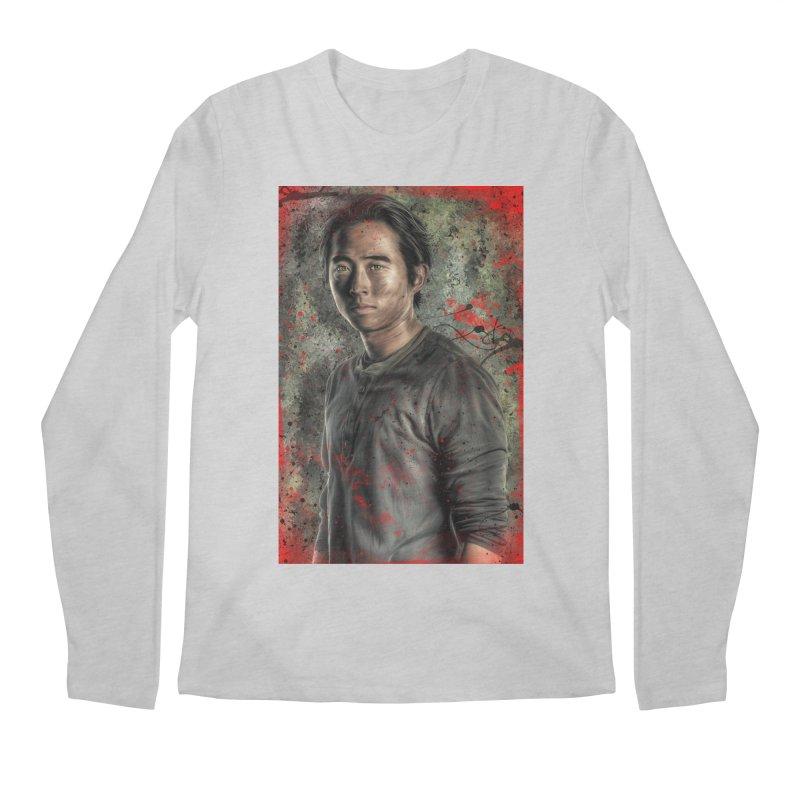 Glenn Rhee - The Walking Dead Men's Longsleeve T-Shirt by EvoComicsInc's Artist Shop