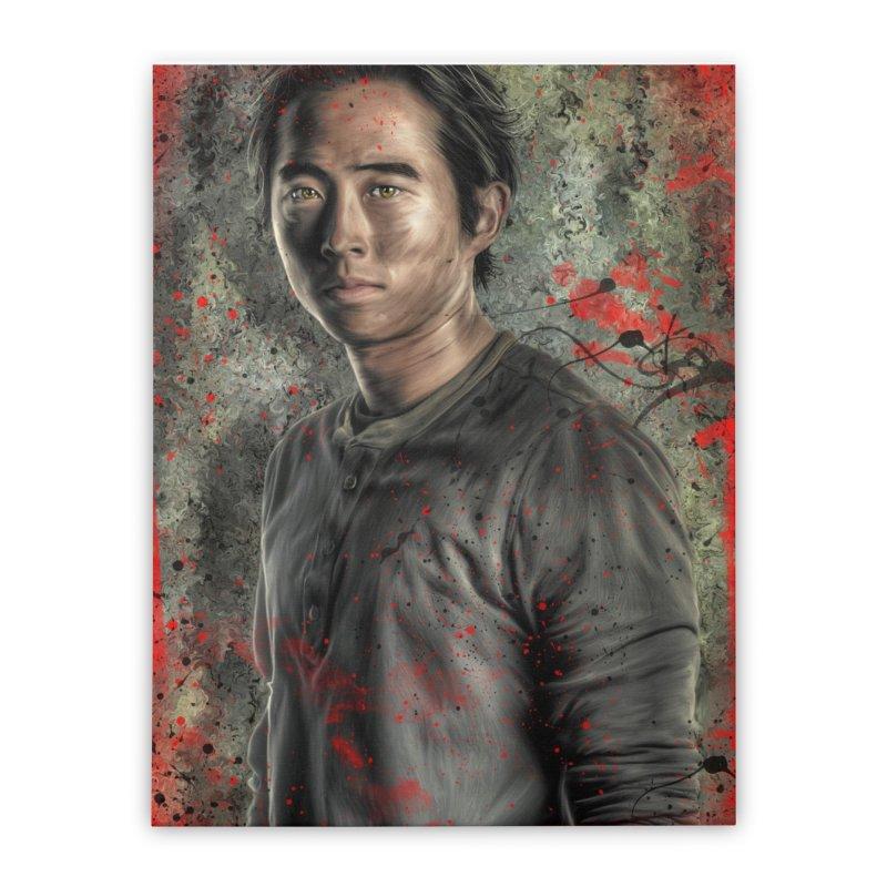 Glenn Rhee - The Walking Dead Home Stretched Canvas by EvoComicsInc's Artist Shop
