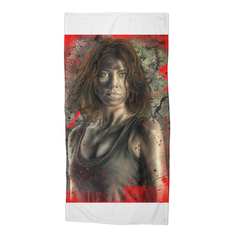 Maggie Greene Rhee Accessories Beach Towel by EvoComicsInc's Artist Shop