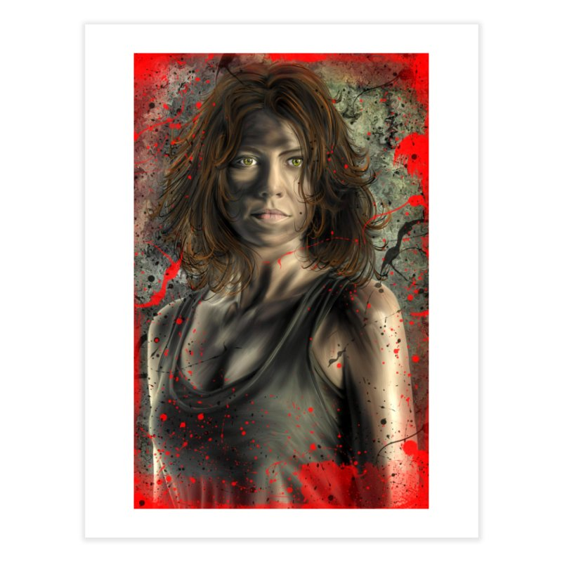 Maggie Greene Rhee Home Fine Art Print by EvoComicsInc's Artist Shop