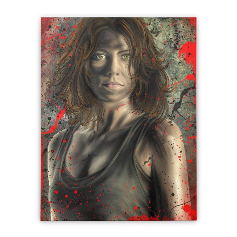 Maggie Greene Rhee Home Stretched Canvas by EvoComicsInc's Artist Shop