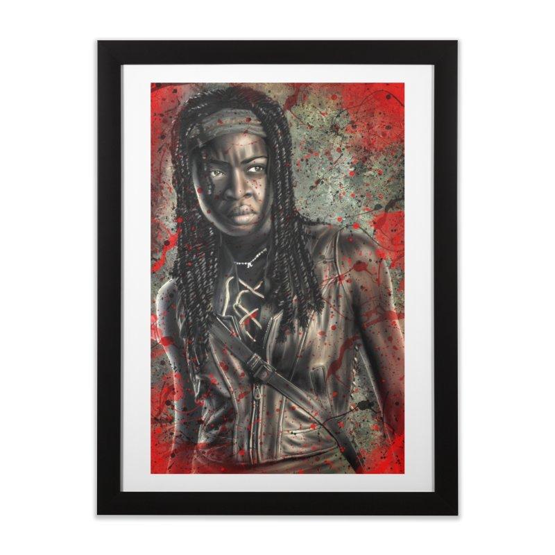 Michonne Home Framed Fine Art Print by EvoComicsInc's Artist Shop