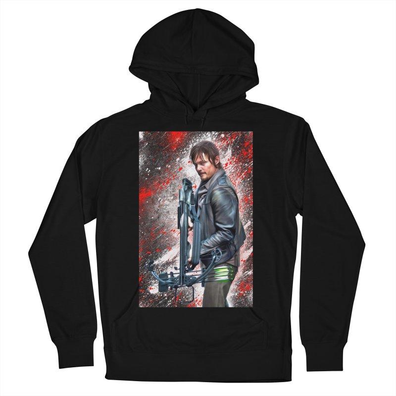Daryl Dixon Crossbow - The Walking Dead Men's Pullover Hoody by EvoComicsInc's Artist Shop