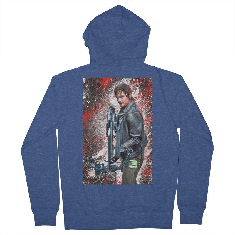 Daryl Dixon Crossbow - The Walking Dead Men's Zip-Up Hoody by EvoComicsInc's Artist Shop