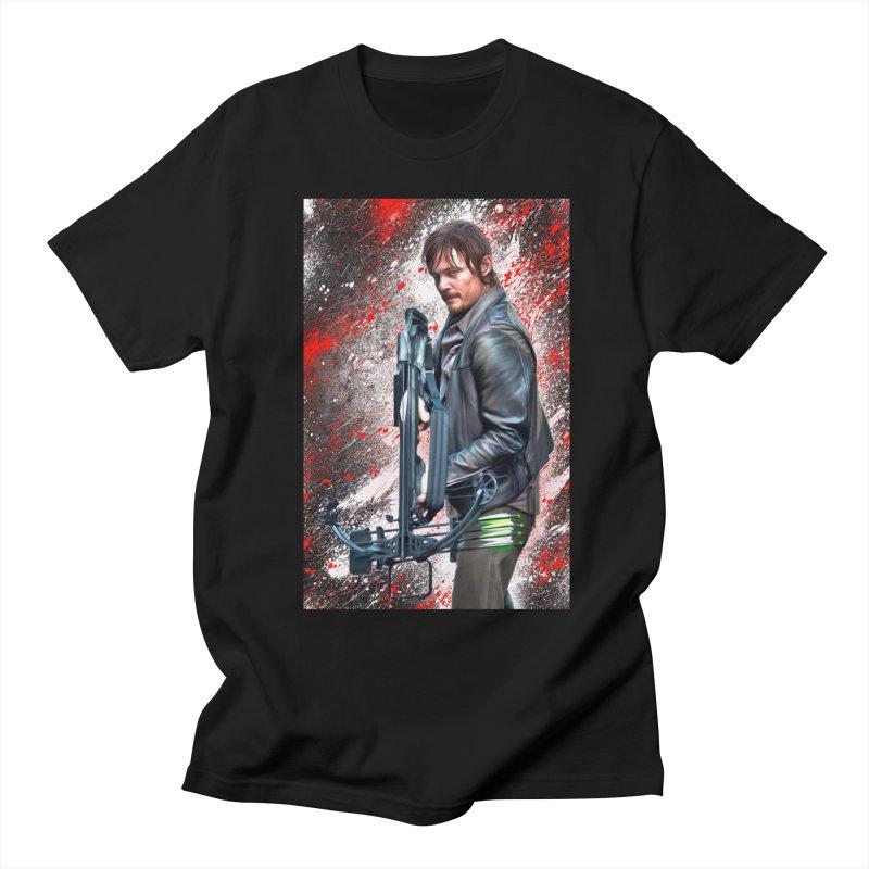 Daryl Dixon Crossbow - The Walking Dead Men's T-Shirt by EvoComicsInc's Artist Shop