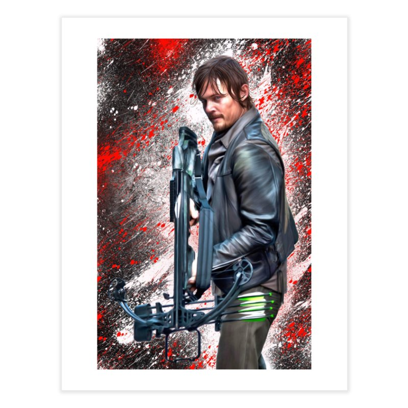 Daryl Dixon Crossbow - The Walking Dead Home Fine Art Print by EvoComicsInc's Artist Shop