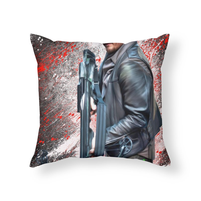 Daryl Dixon Crossbow - The Walking Dead Home Throw Pillow by EvoComicsInc's Artist Shop