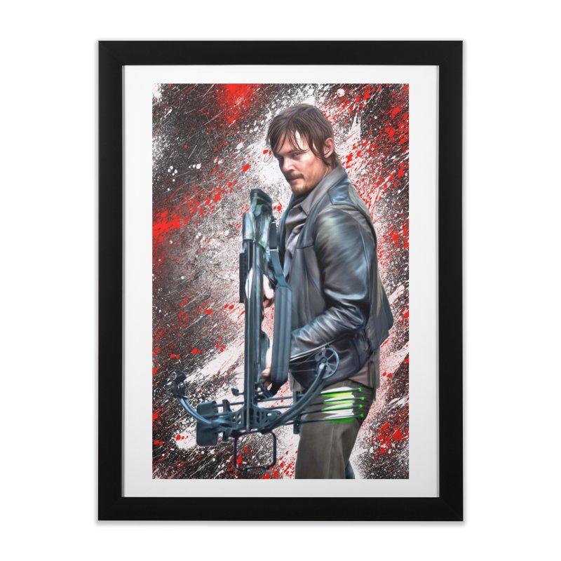 Daryl Dixon Crossbow - The Walking Dead Home Framed Fine Art Print by EvoComicsInc's Artist Shop