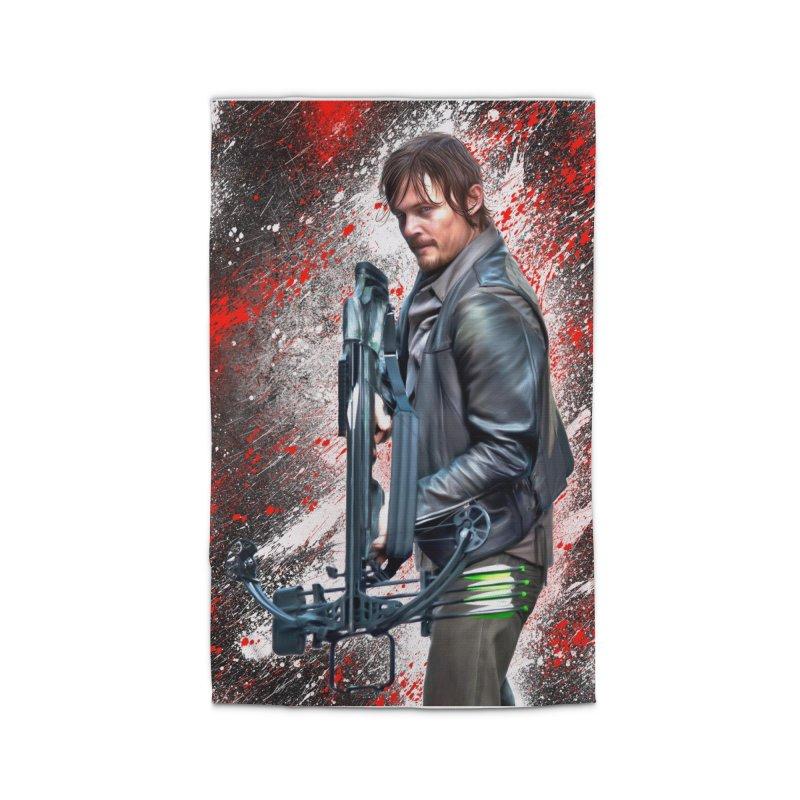 Daryl Dixon Crossbow - The Walking Dead Home Rug by EvoComicsInc's Artist Shop