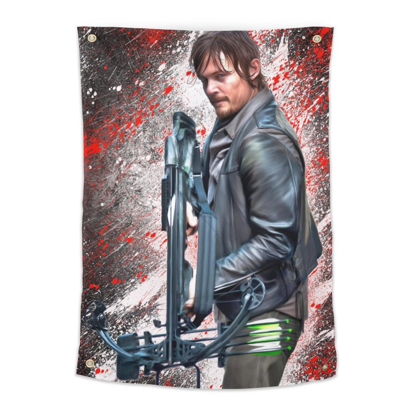 Daryl Dixon Crossbow - The Walking Dead Home Tapestry by EvoComicsInc's Artist Shop