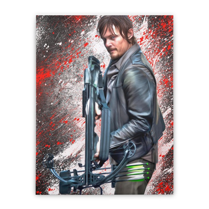 Daryl Dixon Crossbow - The Walking Dead Home Stretched Canvas by EvoComicsInc's Artist Shop
