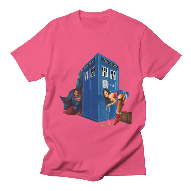 DC Tardis Men's T-Shirt by EvoComicsInc's Artist Shop
