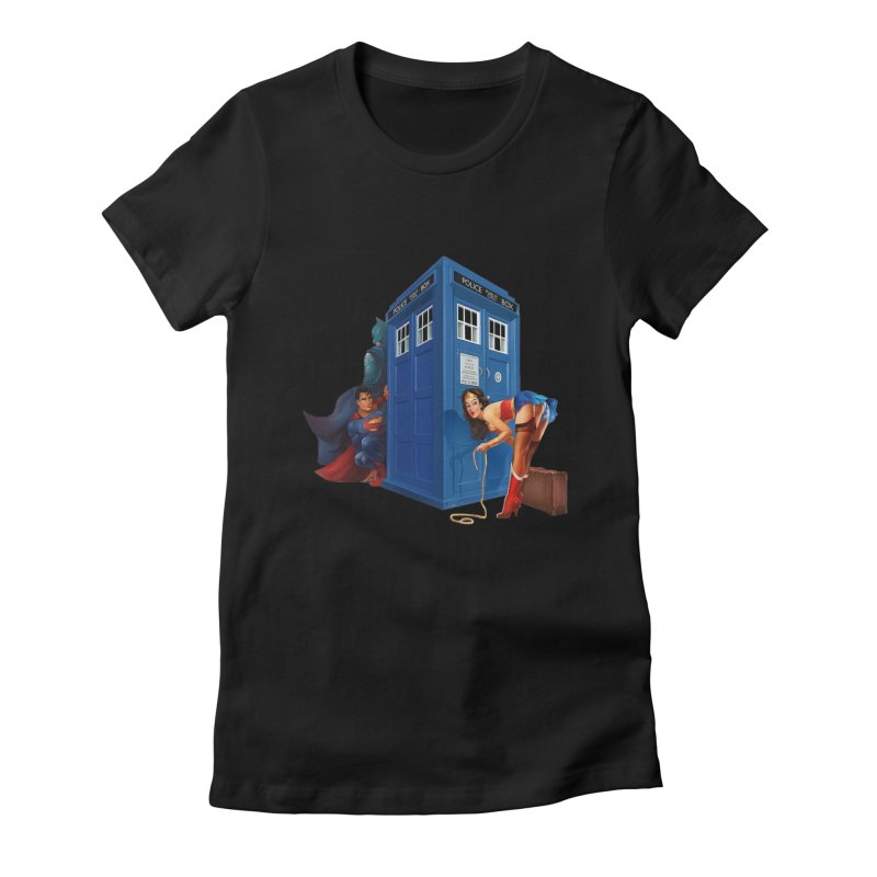 DC Tardis Women's Fitted T-Shirt by EvoComicsInc's Artist Shop