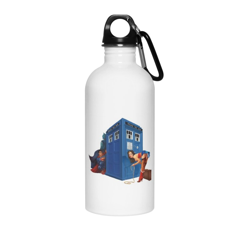 DC Tardis Accessories Water Bottle by EvoComicsInc's Artist Shop
