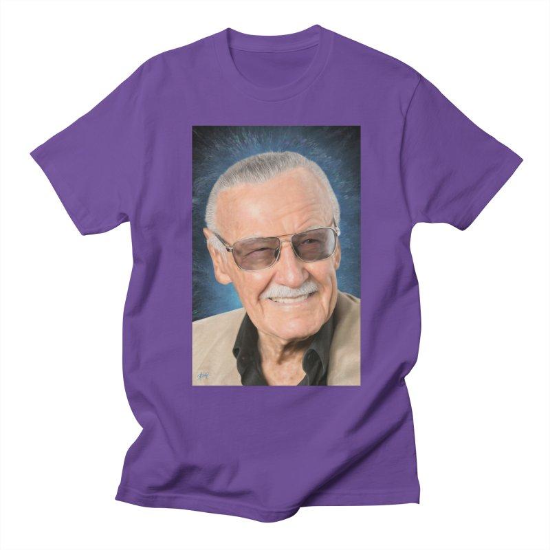 Stan Lee by BadMonkeyPDX Men's T-Shirt by EvoComicsInc's Artist Shop