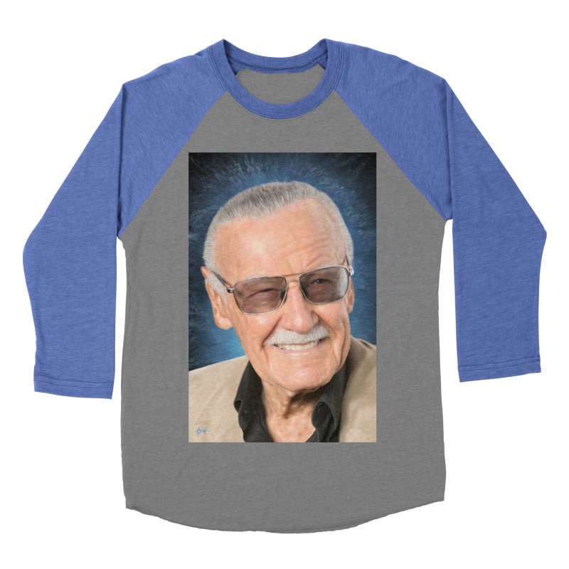 Stan Lee by BadMonkeyPDX Women's Baseball Triblend T-Shirt by EvoComicsInc's Artist Shop