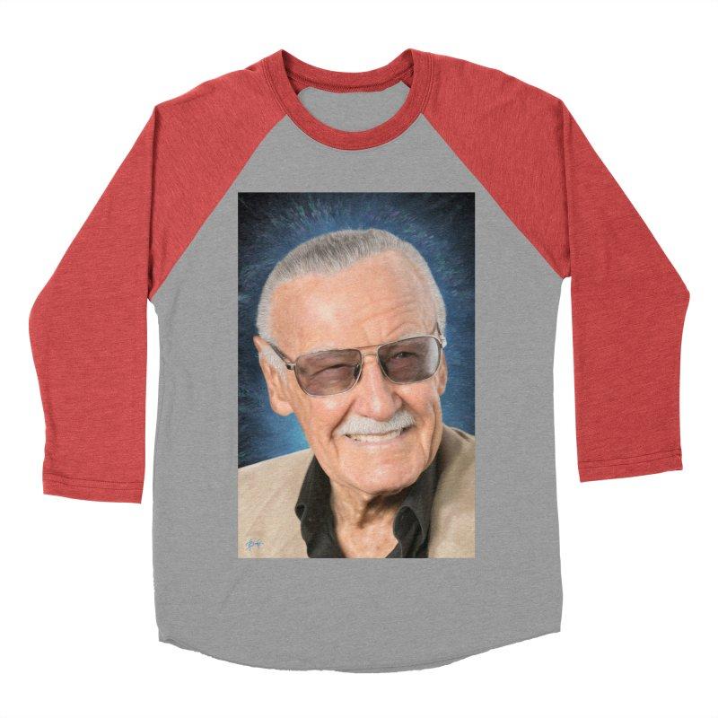 Stan Lee by BadMonkeyPDX Women's Baseball Triblend Longsleeve T-Shirt by EvoComicsInc's Artist Shop