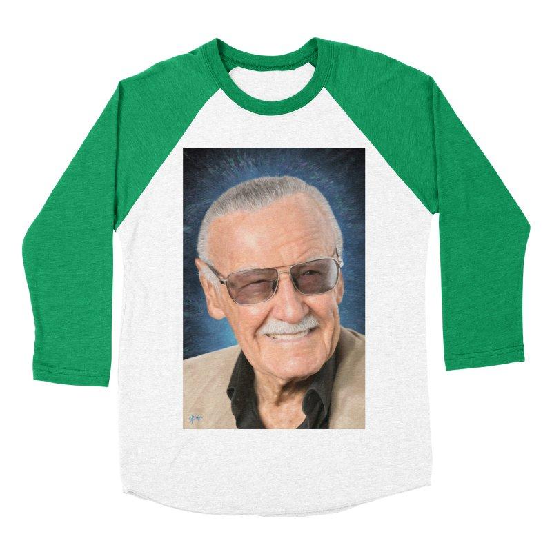 Stan Lee by BadMonkeyPDX Men's Baseball Triblend T-Shirt by EvoComicsInc's Artist Shop