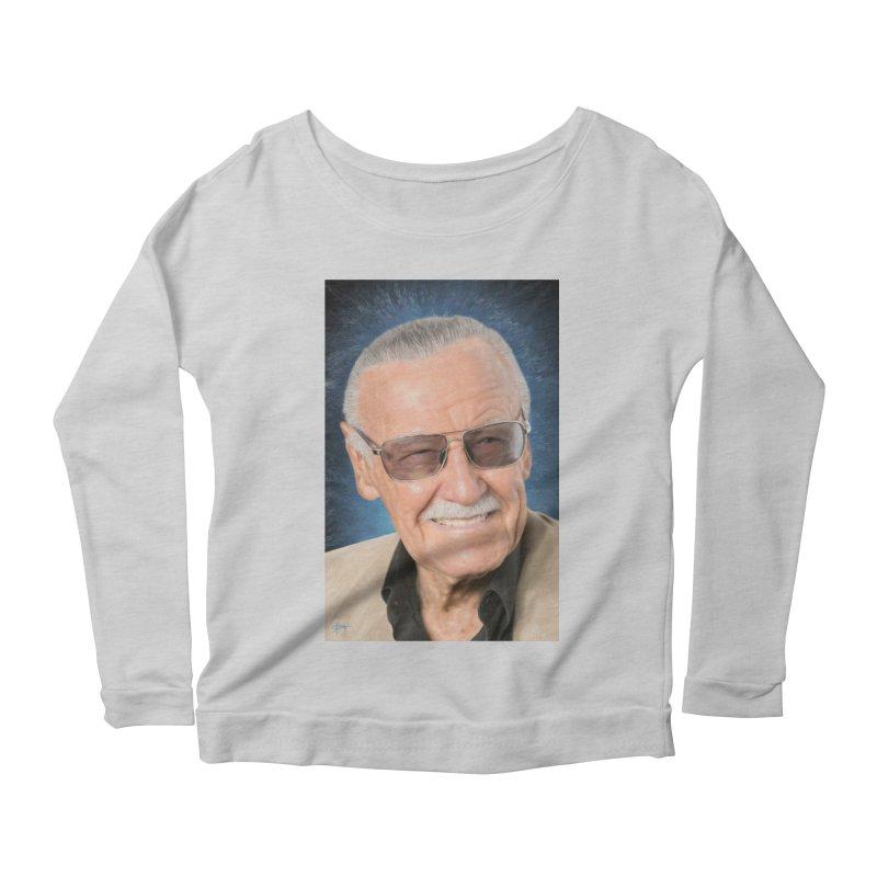 Stan Lee by BadMonkeyPDX Women's Scoop Neck Longsleeve T-Shirt by EvoComicsInc's Artist Shop