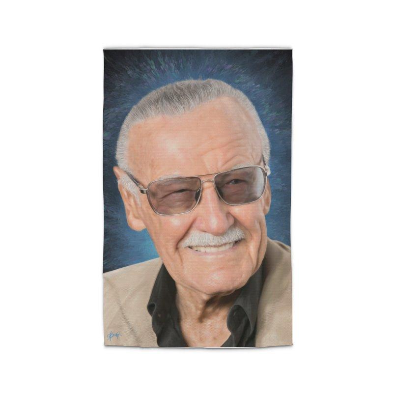 Stan Lee by BadMonkeyPDX Home Rug by EvoComicsInc's Artist Shop