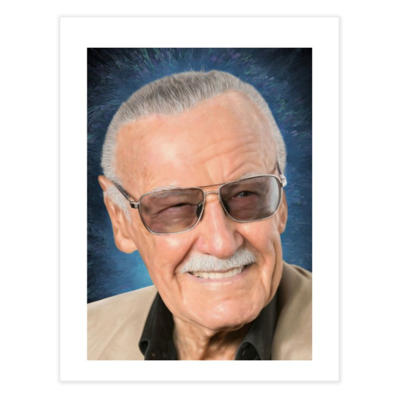 Stan Lee by BadMonkeyPDX Home Fine Art Print by EvoComicsInc's Artist Shop