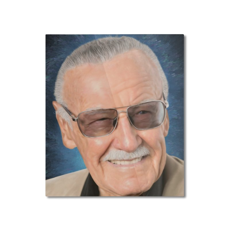Stan Lee by BadMonkeyPDX Home Mounted Aluminum Print by EvoComicsInc's Artist Shop