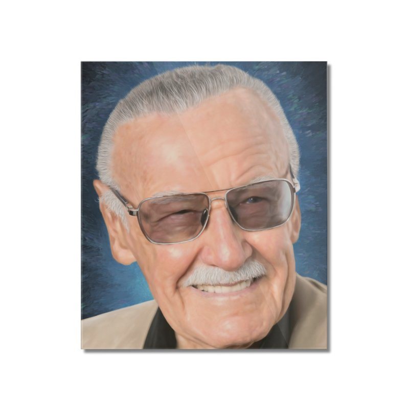 Stan Lee by BadMonkeyPDX Home Mounted Acrylic Print by EvoComicsInc's Artist Shop