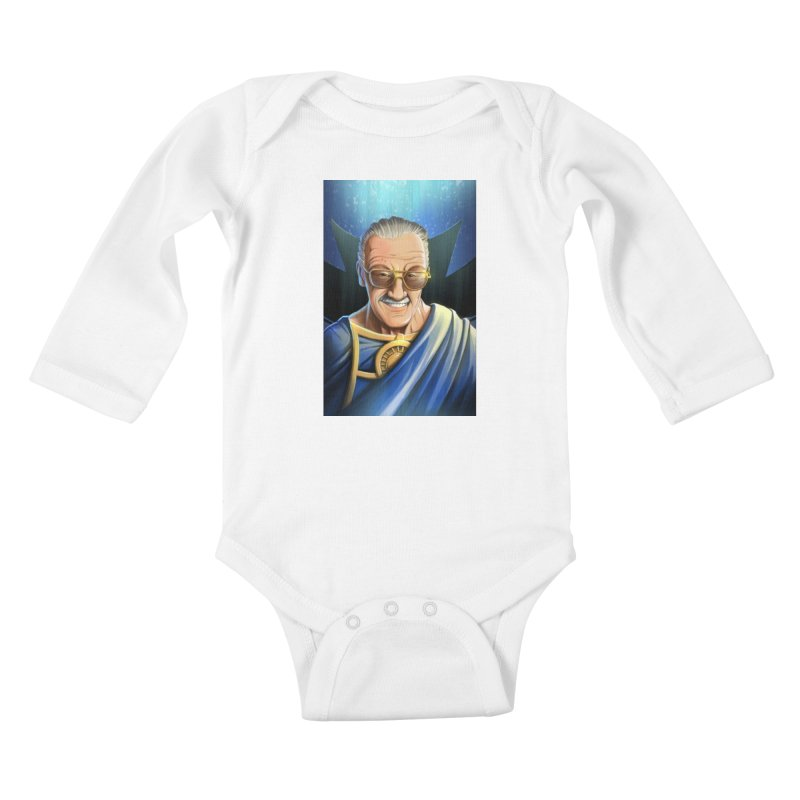 Guardian Stan Lee Kids Baby Longsleeve Bodysuit by EvoComicsInc's Artist Shop