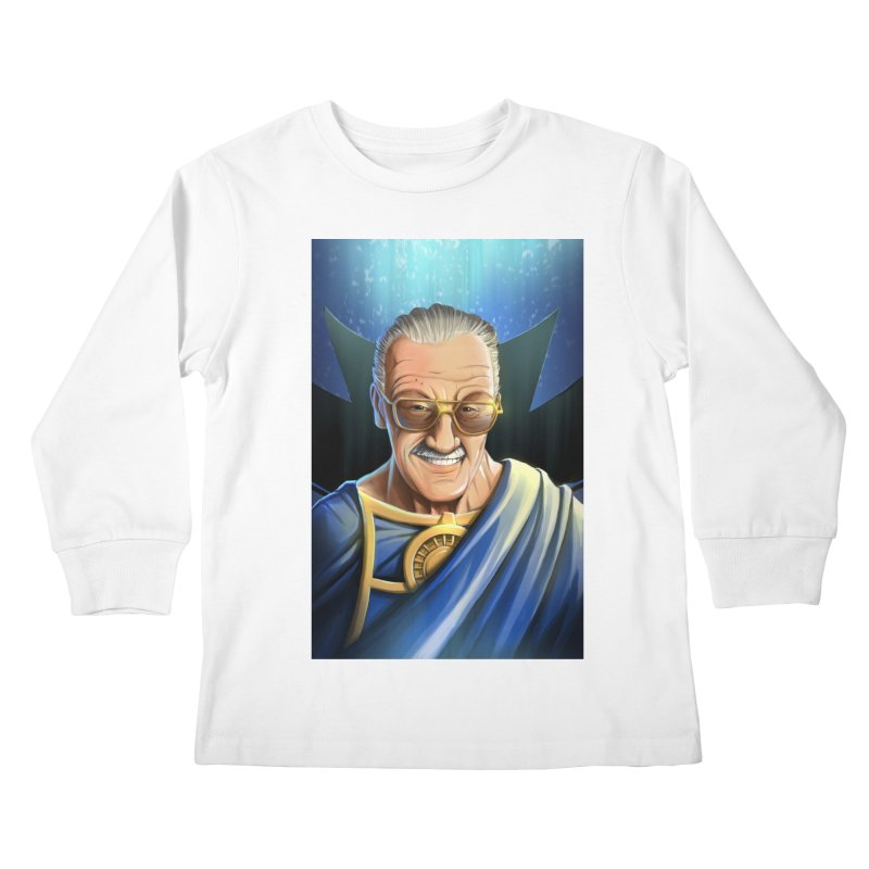 Guardian Stan Lee Kids Longsleeve T-Shirt by EvoComicsInc's Artist Shop