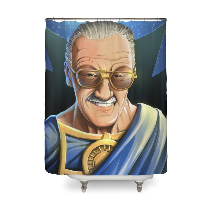 Guardian Stan Lee Home Shower Curtain by EvoComicsInc's Artist Shop